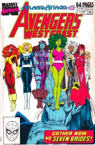 Avengers West Coast Marvel Annual 4 1989 cover