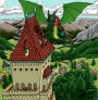 Almas Bok: Mer färgläggning – En Drake läggertak