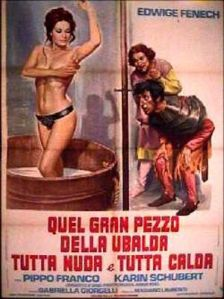Edwige Fenech - Ulbada, all naked and warm 1972 poster