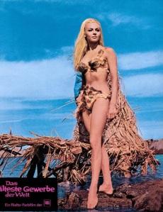 Michele Mercier Le Plus vieux metier du monde stone age bikini