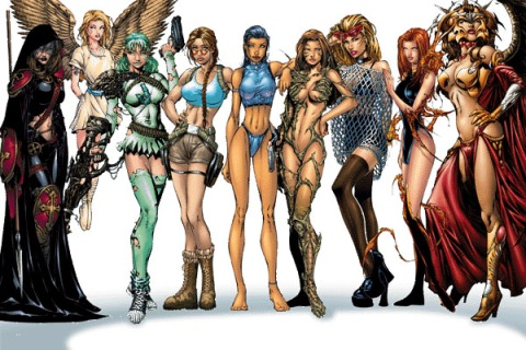 Women of Image Comics Magdalena Angelus Lara Croft Witchblade