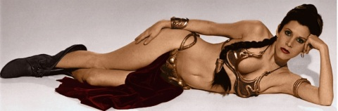 Carrie Fisher Princess Leia Star Wars Return of the Jedi oriental bikini