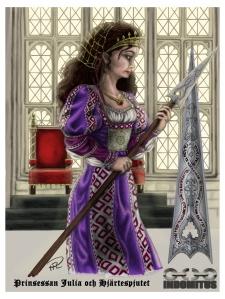 Prinsessan Julia & Hjärtespjutet färg