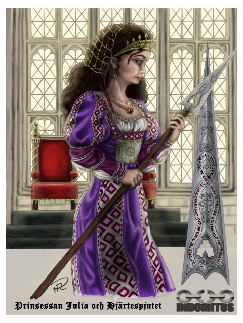 prinsessan Julia och Hjärtespjutet Princess and the Heart Spear color 20140905