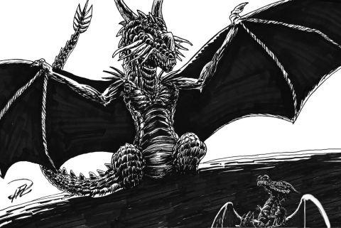 Prinsessan & Draken - Drakmamman Vaknar dimensionerad