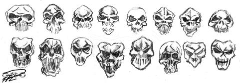 Dödskallar i olika utföranden