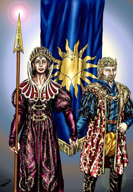 Drottning Maral & Kung Kefas färglagd