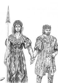 Drottning Maral & Kung Kefas tuschteckning
