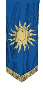 Flagga hängande