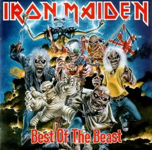 Iron Maiden best of the beast album cover skivomslag