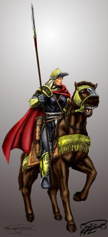 Rustad Hurra -Kiralatet Färgstest Fantasy Mamluk kvinnlig krigare