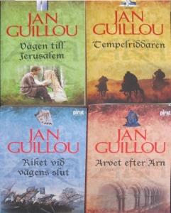 Jan Guillou - Arn-böcker -Vägen till Jerusalem - Tempelriddaren - Riket vid Vägens Slut - Arvet efter Arn