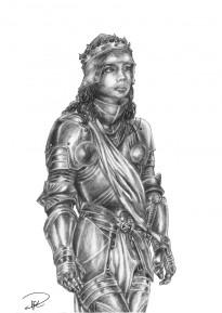 Julia i Rustning teckning