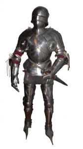 Maximilienne-gothic slutet 1400-t plåtrusnting armor