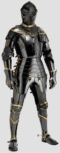 Svart 1400-talsrustning black 15th C armor