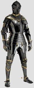 Svart 1400-talsrustning black 15th C armor