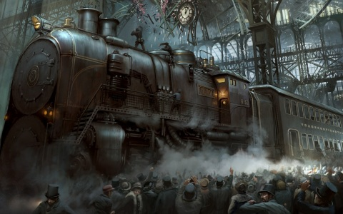 Sc-Fi-Steampunk supertrain