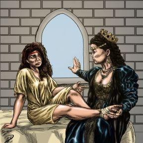 Drottningen och Prinsessan Julia stukad fot