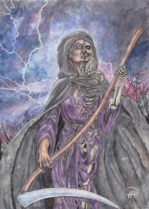 Döden från Felicia, Akvarellpennor + Akvarell