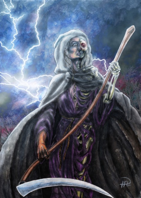 Death Döden m lie scythe enl Felicia behandlad