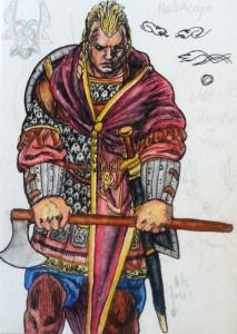 Monomakhos akvarell