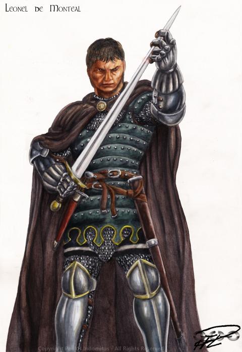 Leonel de Monteal Akvarellmålad