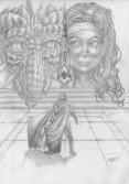Hjärtespjutet Teckning grafit Omslag + Spjutspets