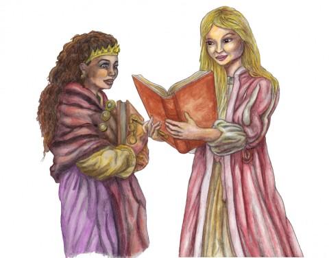 Julia & Amanda läser böcker