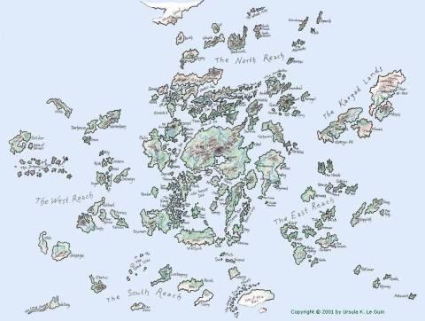 Övärlden Ursula K LeGuin earthsea_map karta