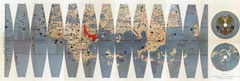 Martin Behaims världskarta från 1493, uppdaterad 1507