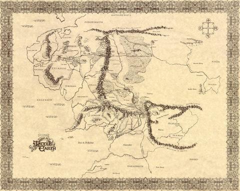 Tolkiens Midgård LotRmap