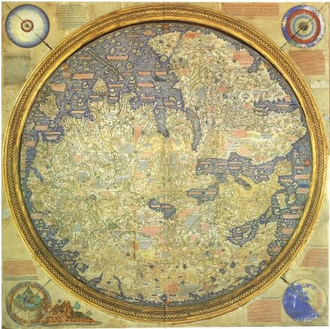 Fra Mauro världskarta 1459 AD (upp och ner)