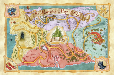 Map of Oz karta trollkarlen från Oz Frank L Baum