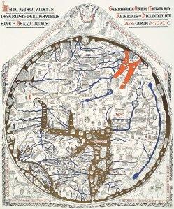 Mapa Mundi 1300 AD map karta