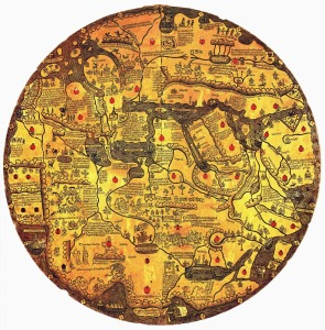 Medeltida Karta Map Tavola_di_Velletri 1430 AD