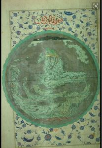 Ottoman World map miniature 1583AD