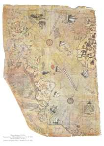 Piri Reis ottoman atlantic map 1513 piri_dunya
