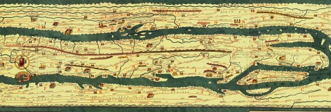 Romersk vägkarta peutinger-table-map-Rome to sicily