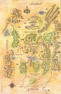 Shannara world Map Terry Brooks