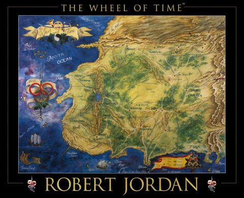 The Wheel of Time Map robert Jordan karta
