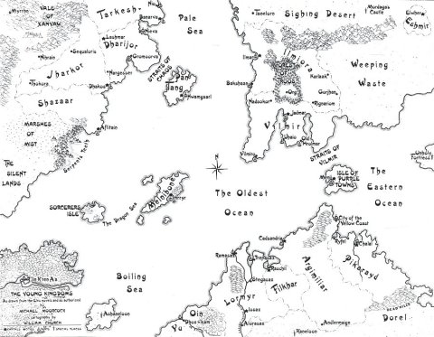 The Young kingdoms elric of melnibone Michael Moorcock map karta