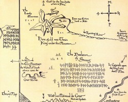 Tolkiens Midgård middle-earth-thrors-map Bilbo Karta