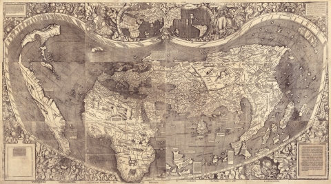 Världskarta1507 AD world map