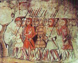 Almogavars i krönika om majorcas erövring ca 1230