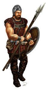 Almutamer-krigare, färglagd