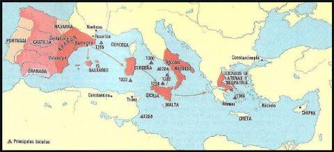 Den Katalanskt-Aragonska Expansionen 1200-1300-talet