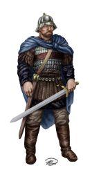 Bysantinsk Befälhavare färglagd