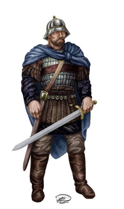 Arakansk befälhavare färglagd Byzantium Bysans Resize