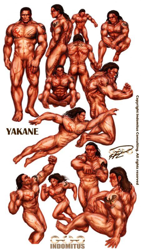 anatomisk-studie-yakane-sepia-farglagd-muskler-skuggor