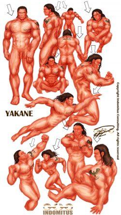 anatomisk-studie-yakane-sepia-farglager-belysning-skuggning